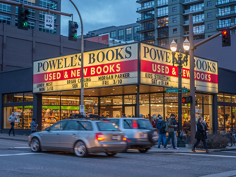 Powell's Bookstore in Portland
